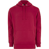 Big and Tall pink slouch hoodie