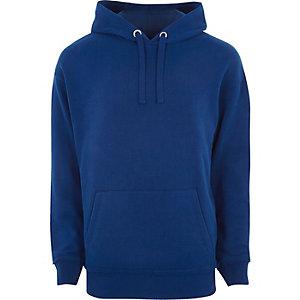 RI Big and Tall - Blauwe hoodie met lange mouwen