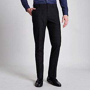 Marineblaue Skinny Fit Anzugshose
