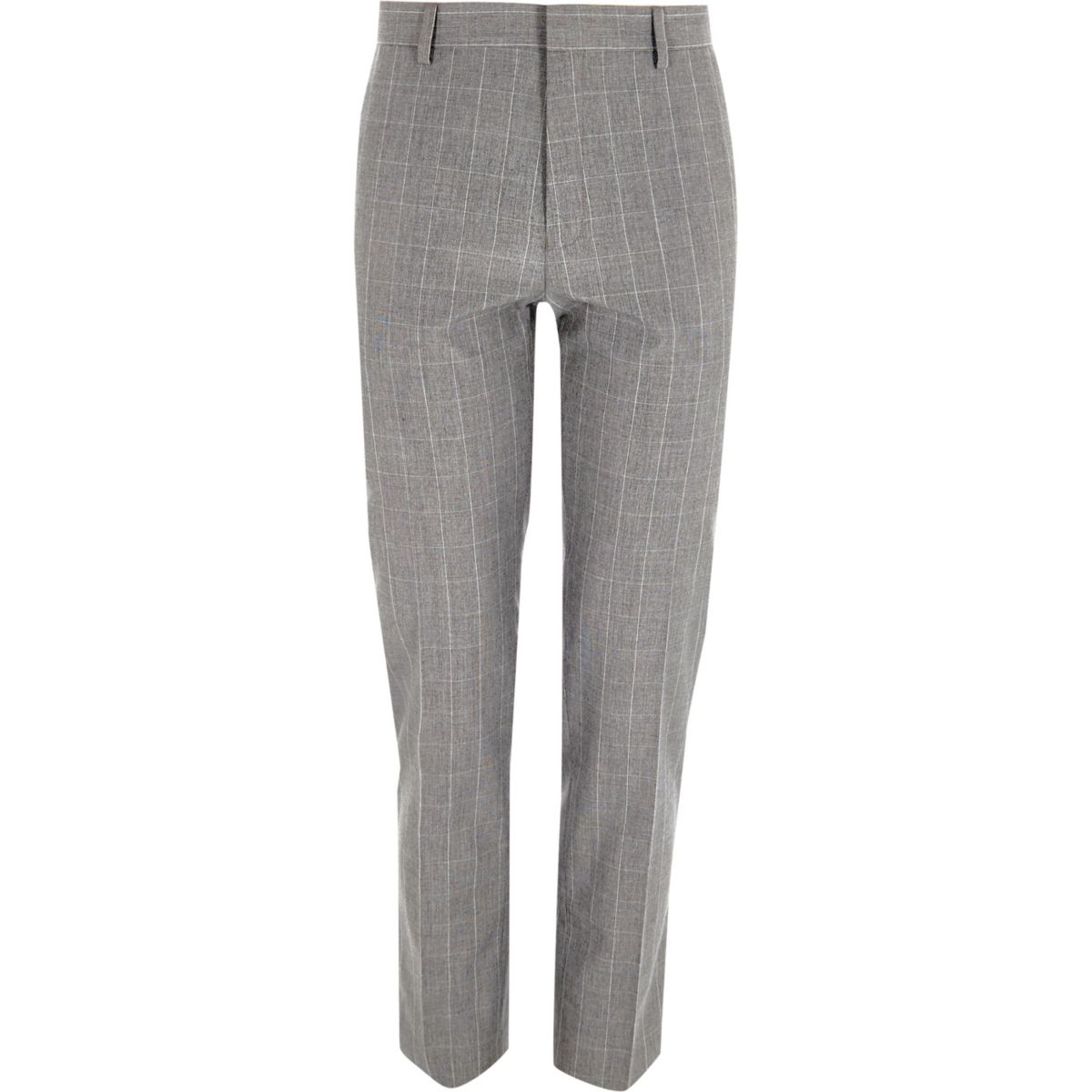 Grey fit suit trousers check skinny YYzx6qwO8