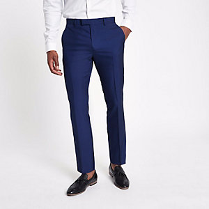 Pantalon de costume bleu vif coupe slim