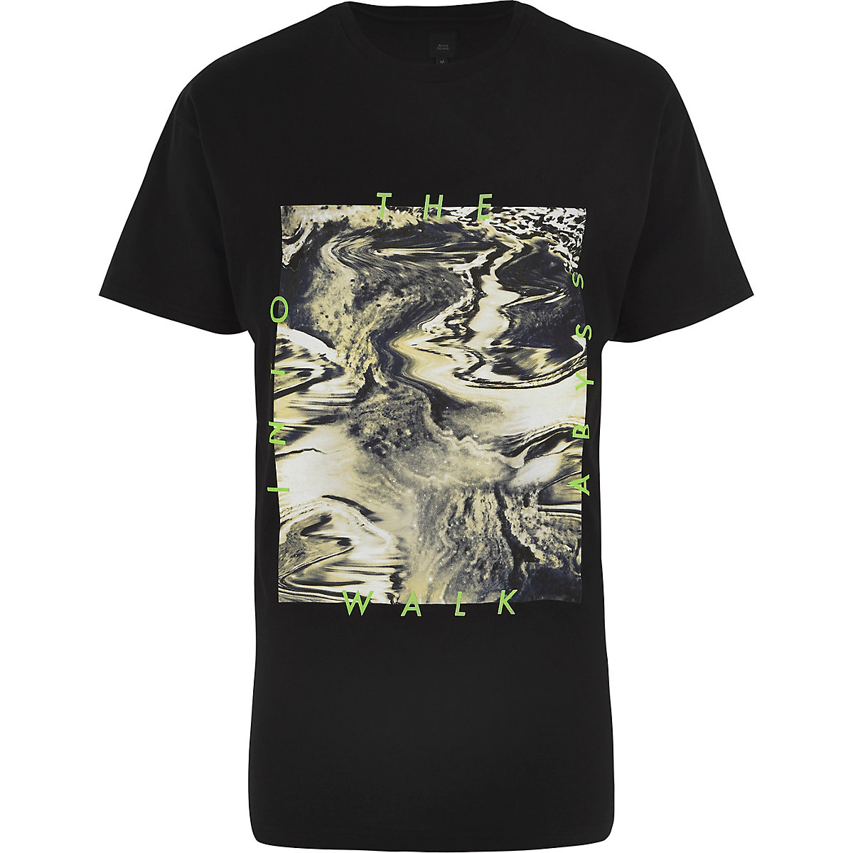 """Schwarzes T-Shirt """"Walk into the Abyss"""""""
