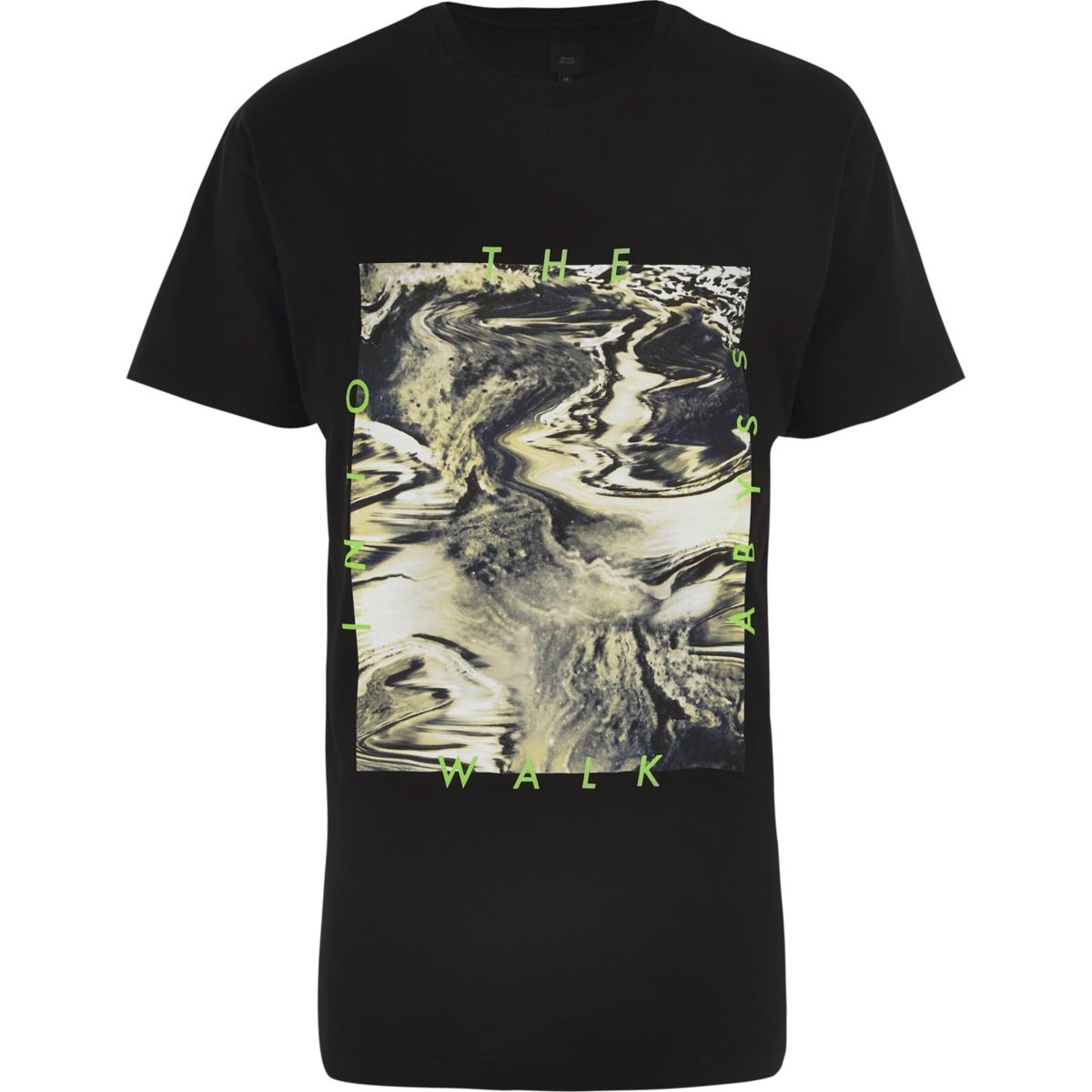"Schwarzes T-Shirt ""Walk into the Abyss"""