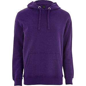 Sweat à capuche oversize violet