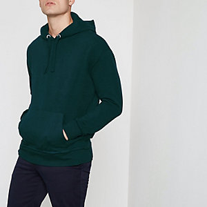 Forest green long sleeve slouch hoodie
