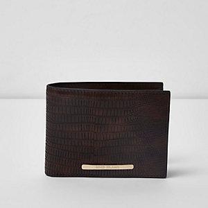 Dark brown snake embossed wallet