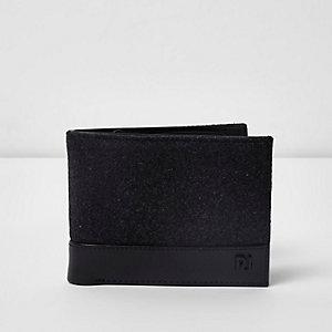 Graue Geldbörse aus Lederimitat
