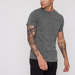 T-shirt slim gris foncé