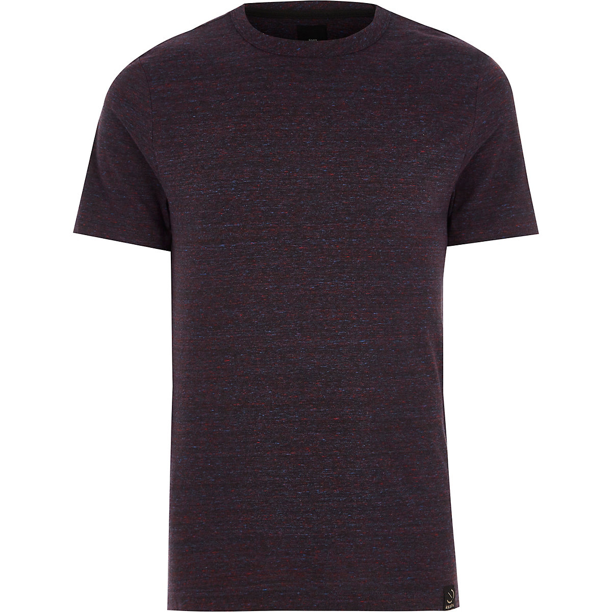 Dark red slim fit crew neck T-shirt