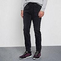 Ryan – Jean noir délavé style pantalon de jogging
