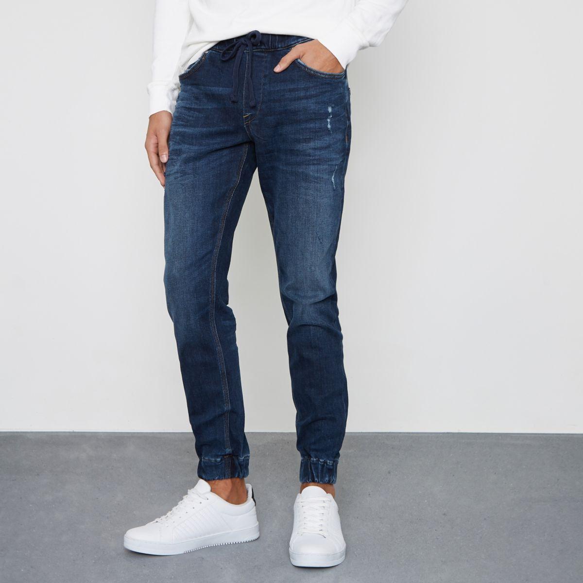 Dark blue wash Ryan jogger jeans