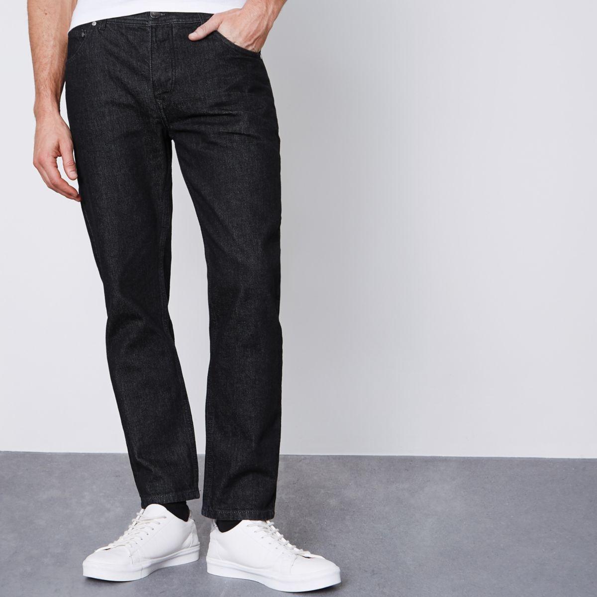 Jimmy - Zwarte smaltoelopende jeans