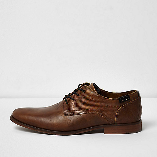 Tan brown leather smart shoes