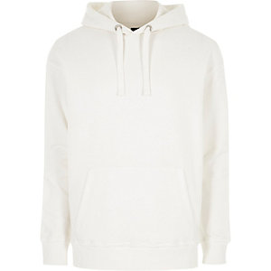 White long sleeve slouch hoodie