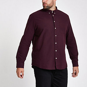 Big and Tall burgundy button-down shirt