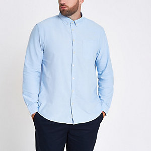 Big and Tall light blue button-down shirt