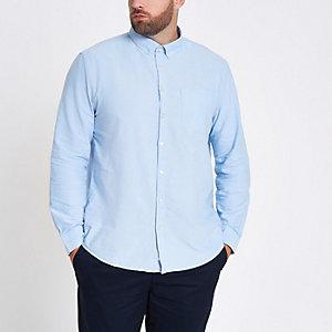 Big and Tall - Lichtblauw overhemd met lange mouwen