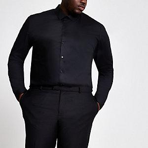 Big and Tall black long sleeve shirt