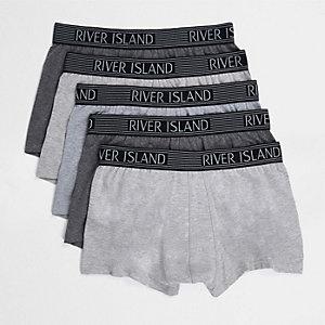Lot de boxers gris