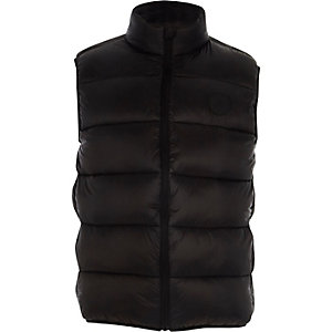 Big and Tall black puffer gilet