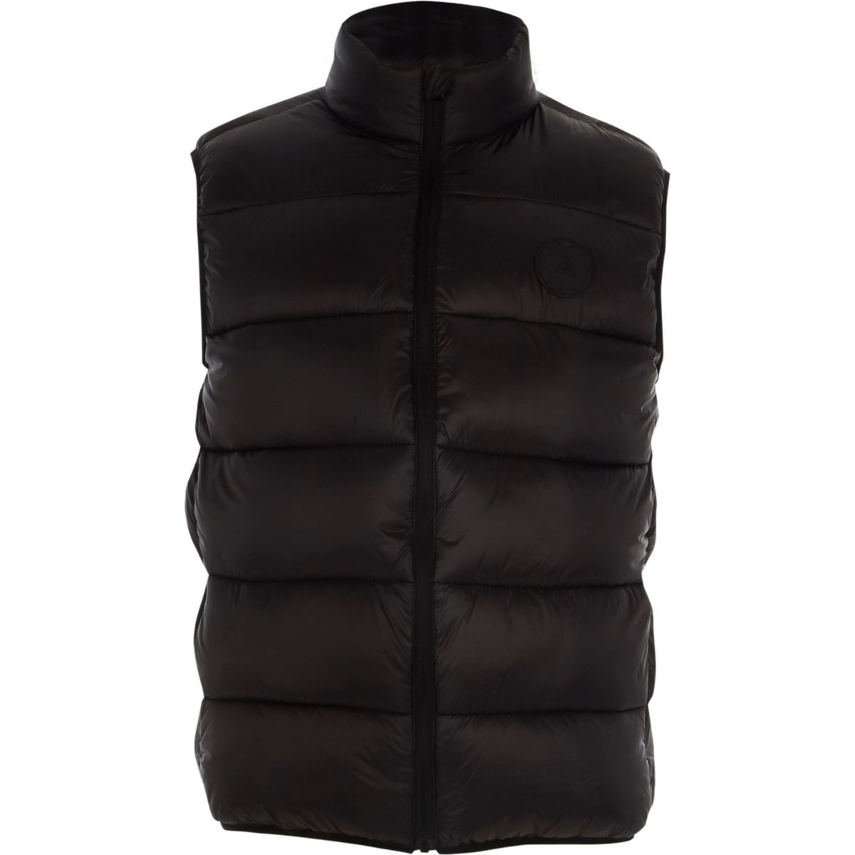 Big and Tall black puffer vest