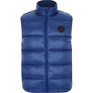 Big and Tall blue puffer vest