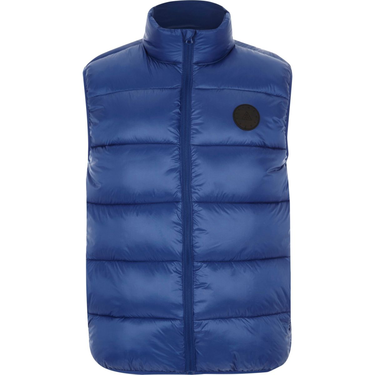 Big and Tall blue puffer gilet