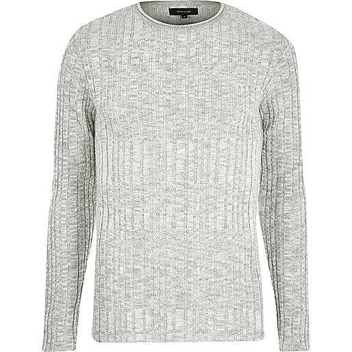 Big and Tall stone ribbed sweater