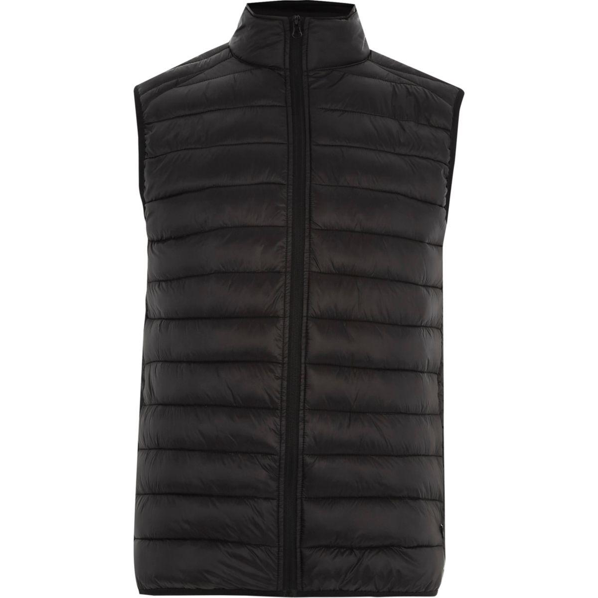 Black padded vest