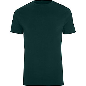 Big and Tall dark green T-shirt