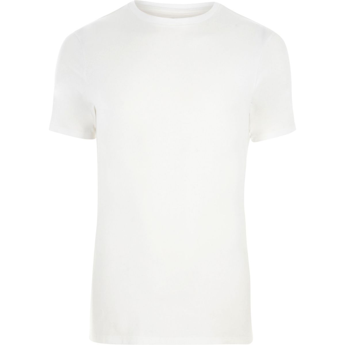 White muscle fit short sleeve T-shirt