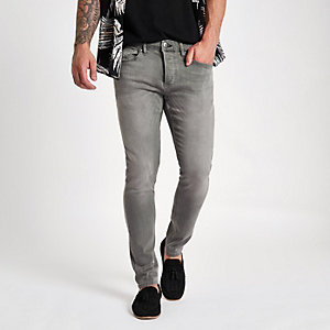 Sid – Graue Skinny Jeans mit Waschung