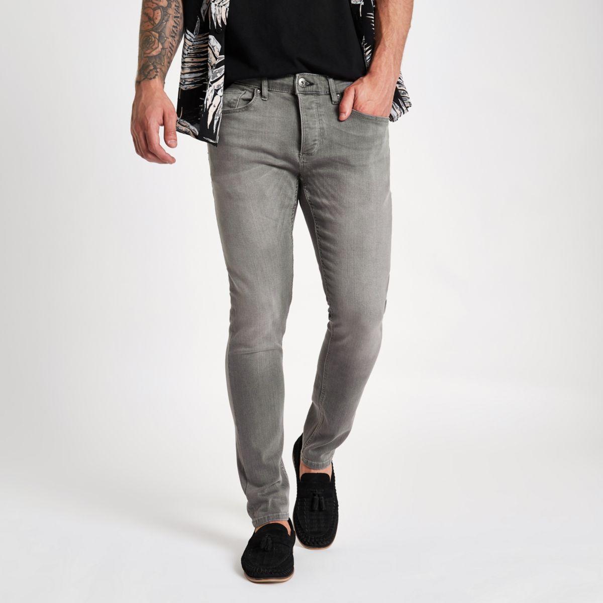 Grey wash Sid skinny jeans