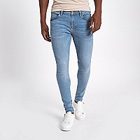Light blue Ollie super skinny spray on jeans
