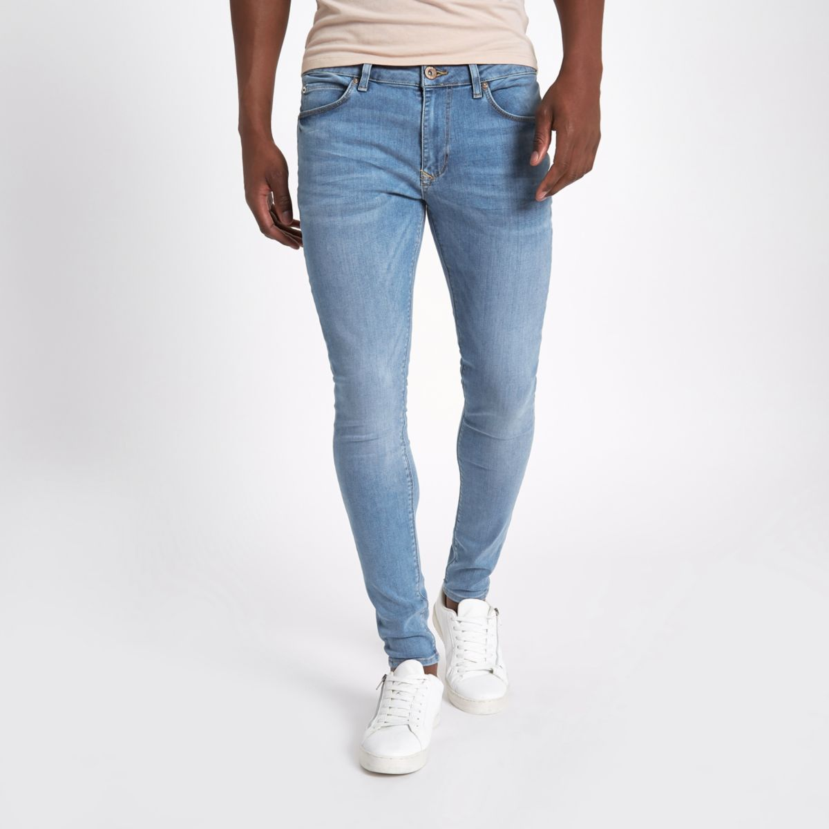 Ollie – Hellblaue Superskinny Spray On Jeans