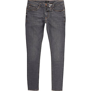 Dark blue Ollie super skinny spray on jeans