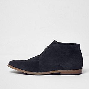 Marineblauwe suède desert boots