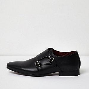 Black monk strap shoes