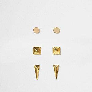 Multipack goudkleurige oorknopjes