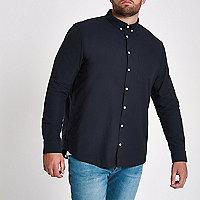 Big and Tall navy button-down shirt
