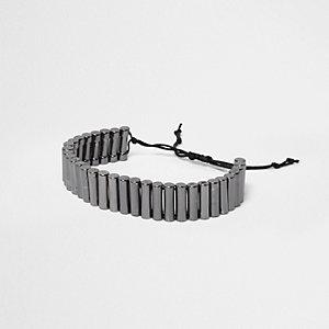 Graue Lasso-Halskette