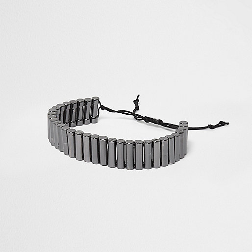 Grey lariat bracelet