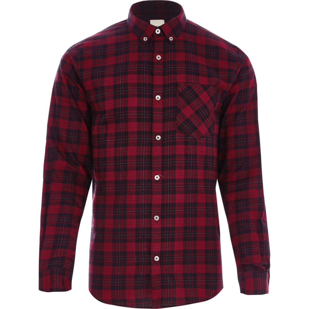 Big and tall red check long sleeve shirt shirts sale men for Big and tall long sleeve shirts