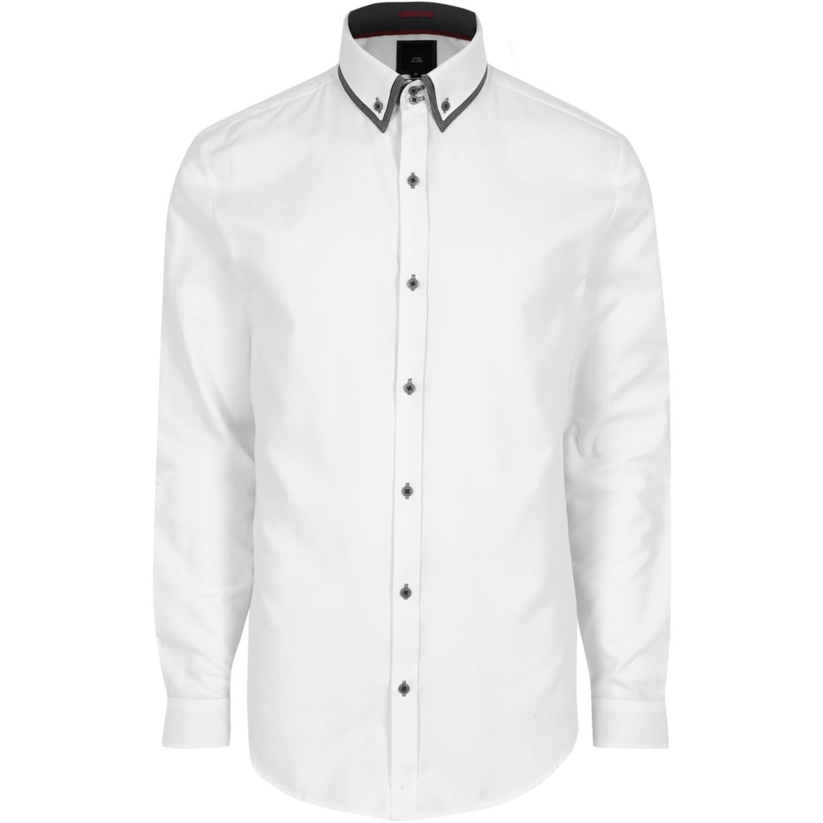 White double collar slim fit smart shirt