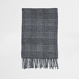 Grey check scarf