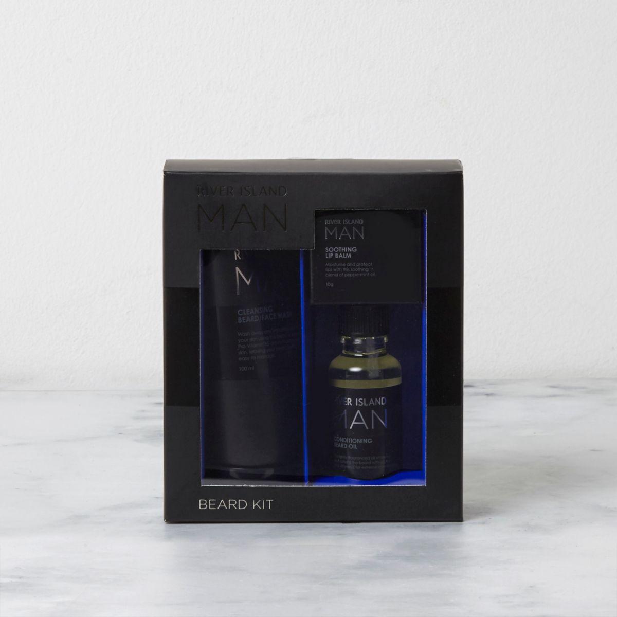 Black beard grooming kit