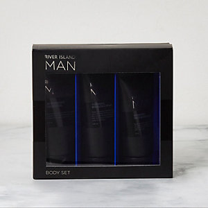 RI Man – Schwarzes Body-Set