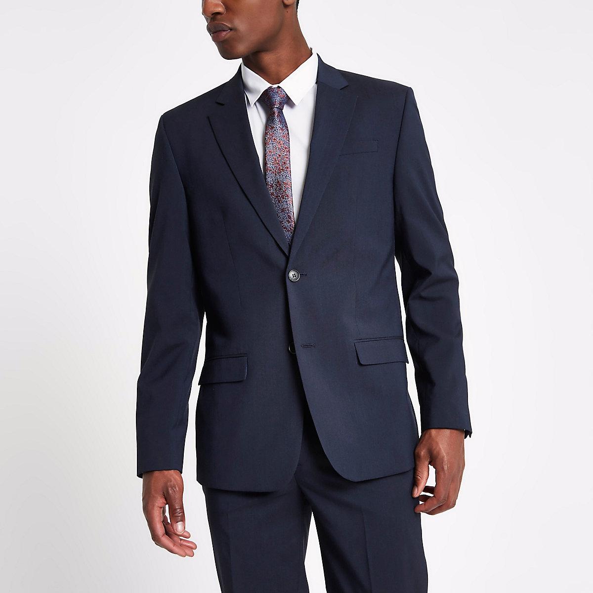 Veste de costume cintrée bleu marine Veste de costume cintrée bleu marine  ... 3717b82dde4