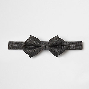Grey glitter bow tie