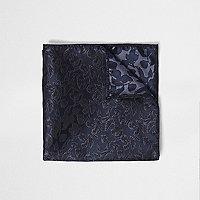 Navy floral pocket square